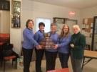 Janet LaPierre, Janet Levere, Wendy Casselman, Janet Thompson,& coach Linda Laverie